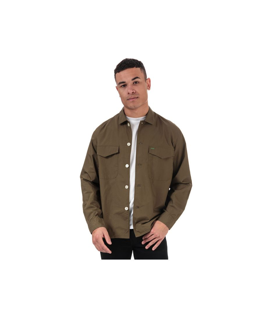 Image for Men's Tommy Hilfiger Military Style Pure Cotton Shirt in Green