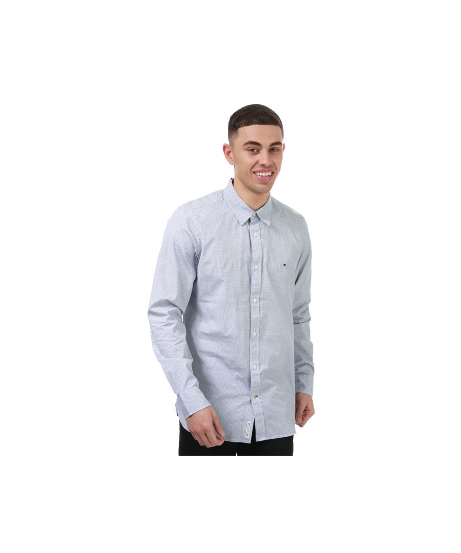 Image for Men's Tommy Hilfiger Soft Geo Shirt in Blue-White