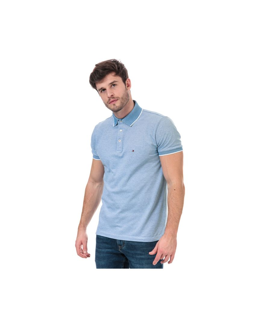 Image for Men's Tommy Hilfiger Cool Oxford Polo Shirt in Blue