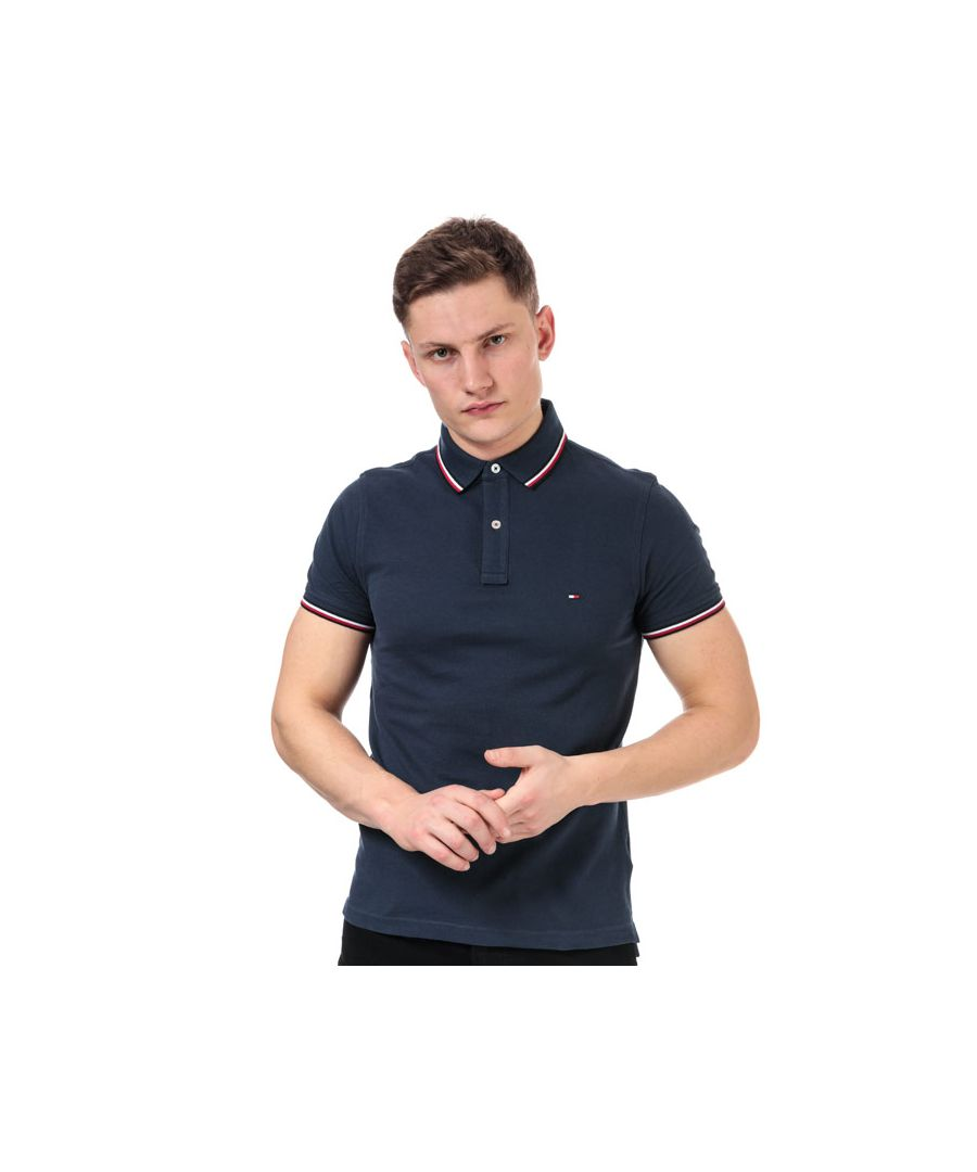 Image for Men's Tommy Hilfiger Tipped Polo Shirt in Blue