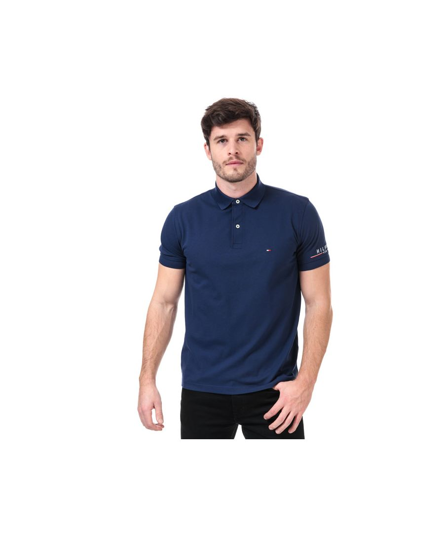 Image for Men's Tommy Hilfiger Tommy Logo Polo Shirt in Blue