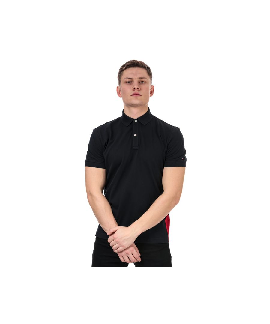 Image for Men's Tommy Hilfiger Hilfiger Insert Polo Shirt in Navy