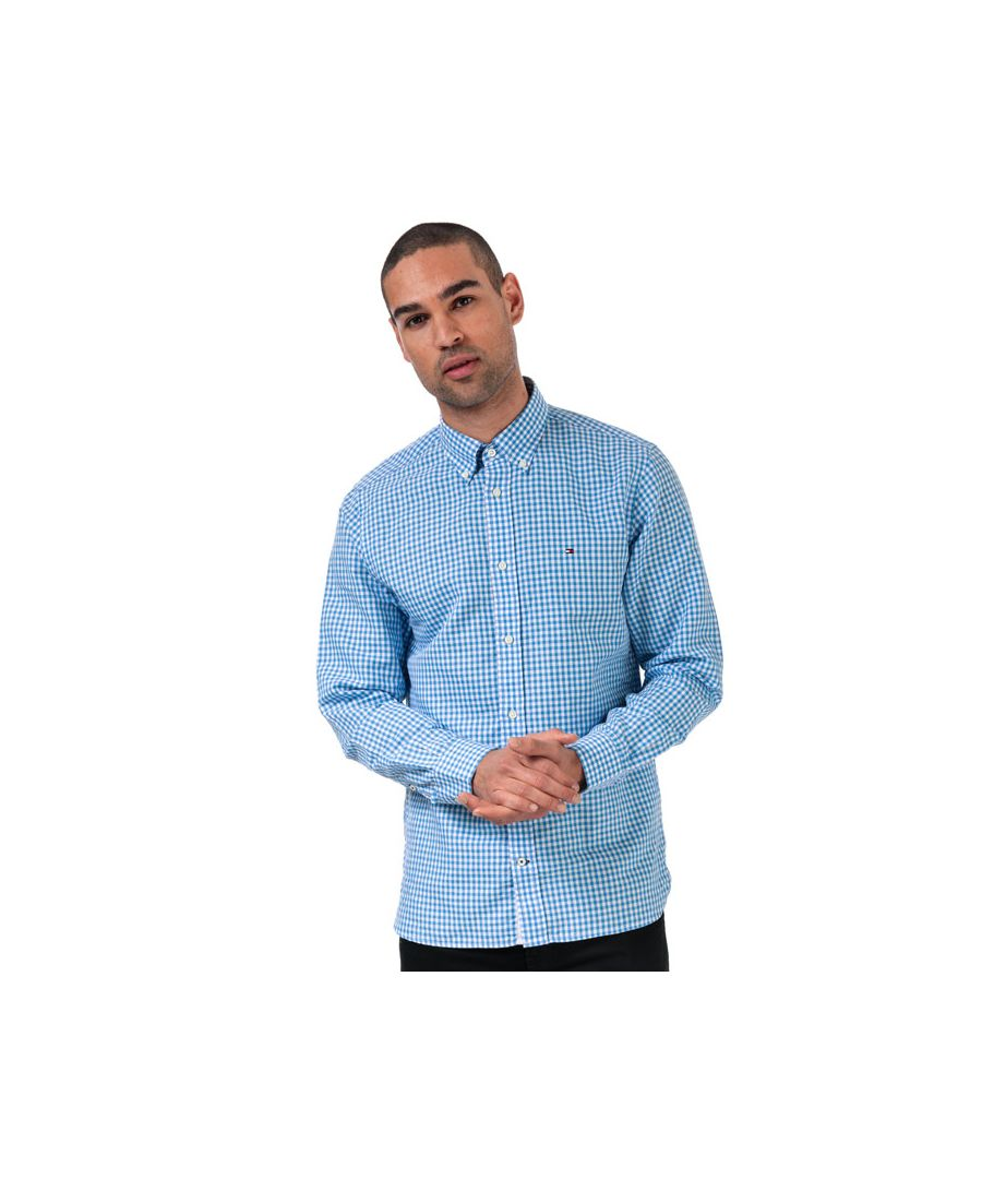 Image for Tommy Hilfiger Men's Gingham Check Shirt in Blue-White