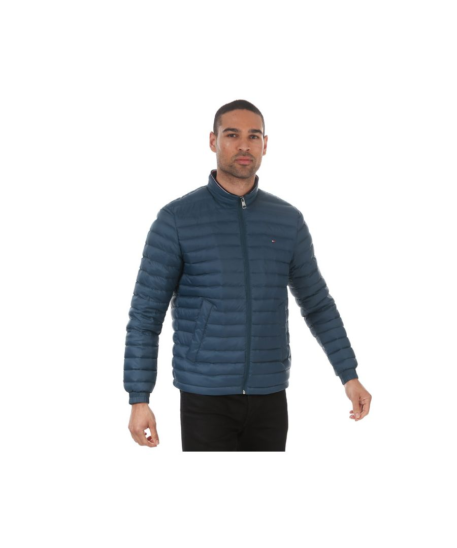Image for Men's Tommy Hilfiger Packable Down Jacket Blue Min Blue