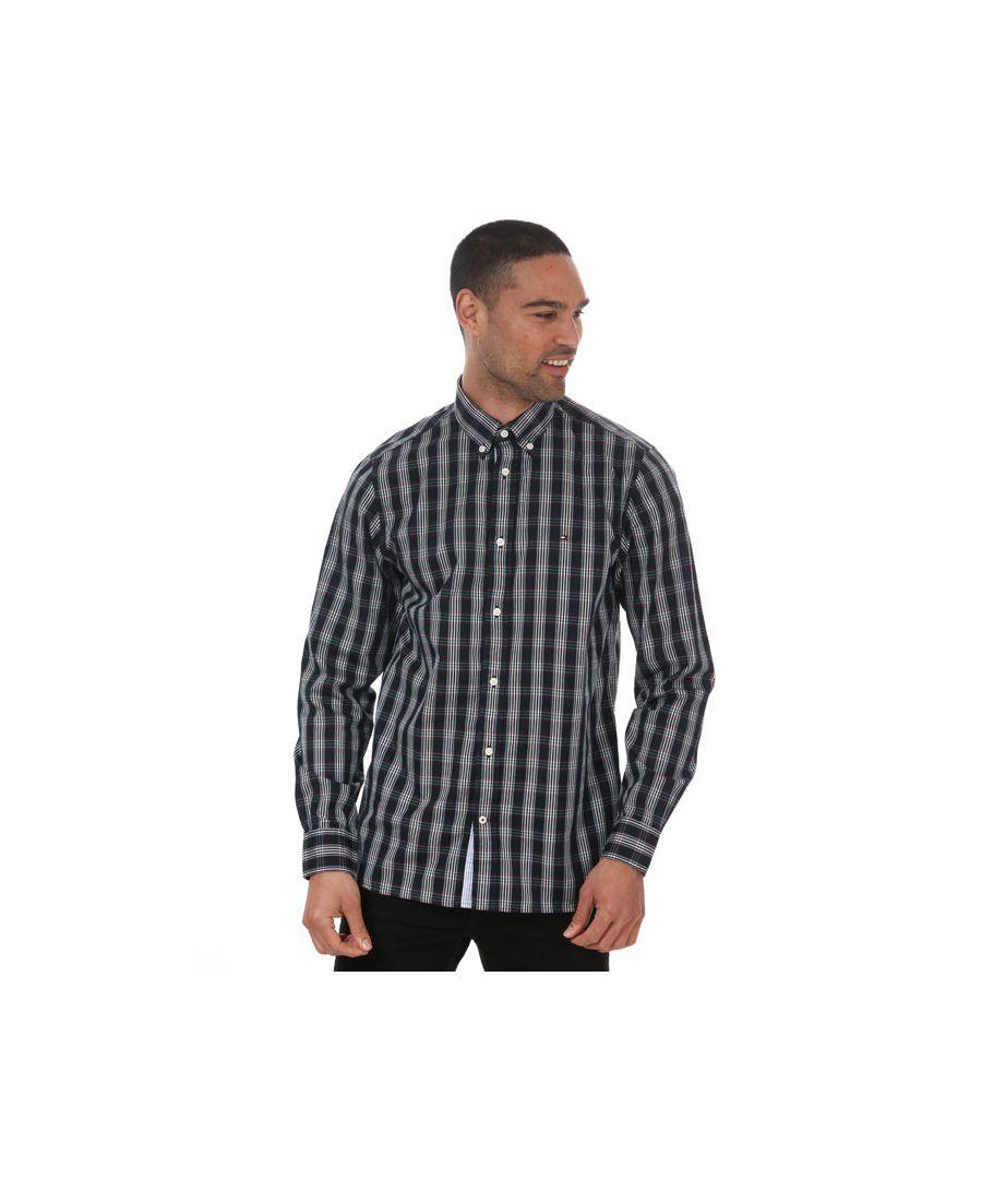 Image for Men's Tommy Hilfiger Multi Check Shirt Blue Sin Blue