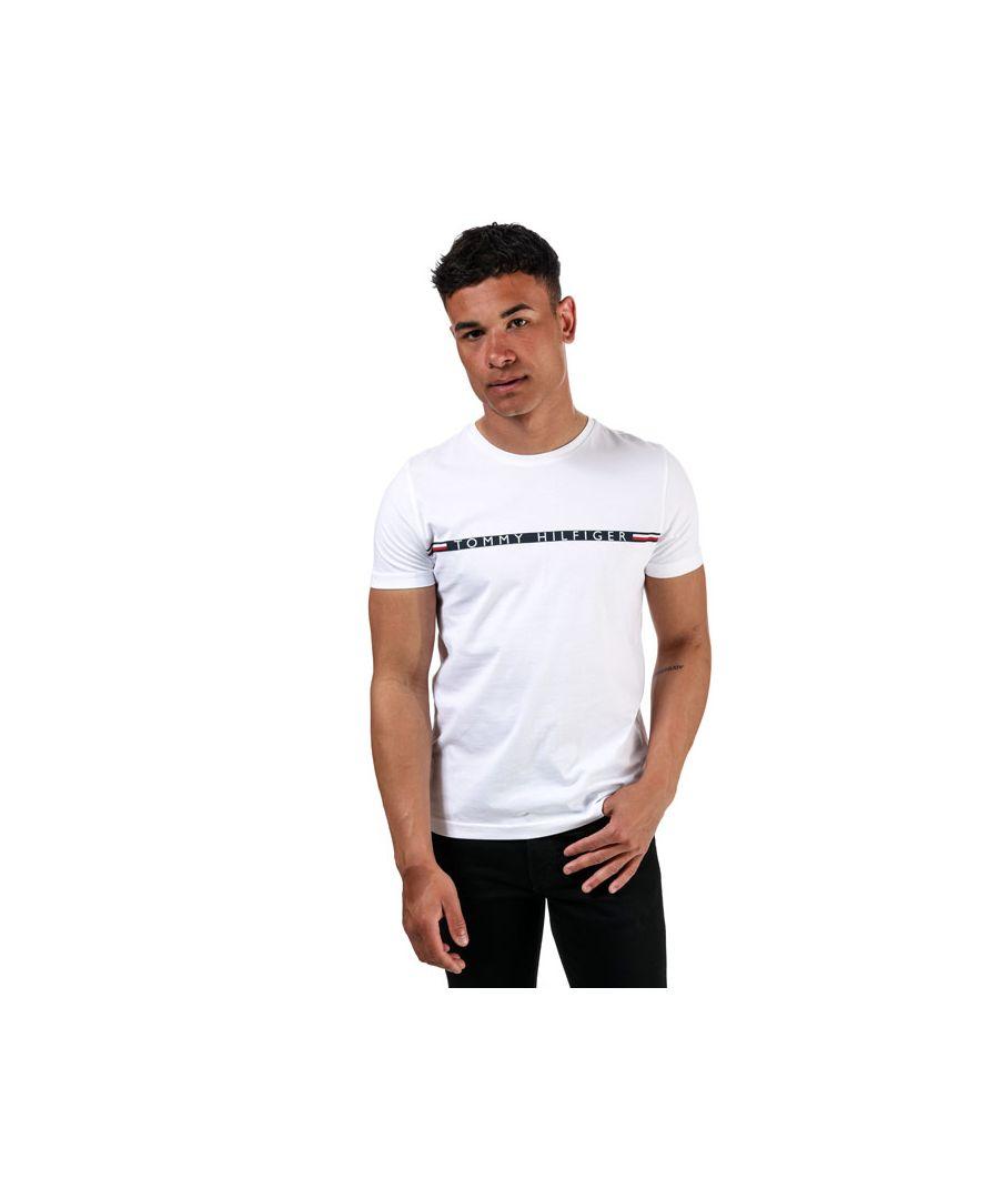 Image for Men's Tommy Hilfiger Organic Cotton Logo T-Shirt White Sin White
