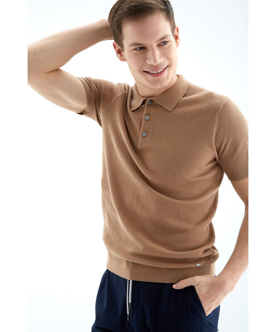 Image for Men s Textured Polo Shirt