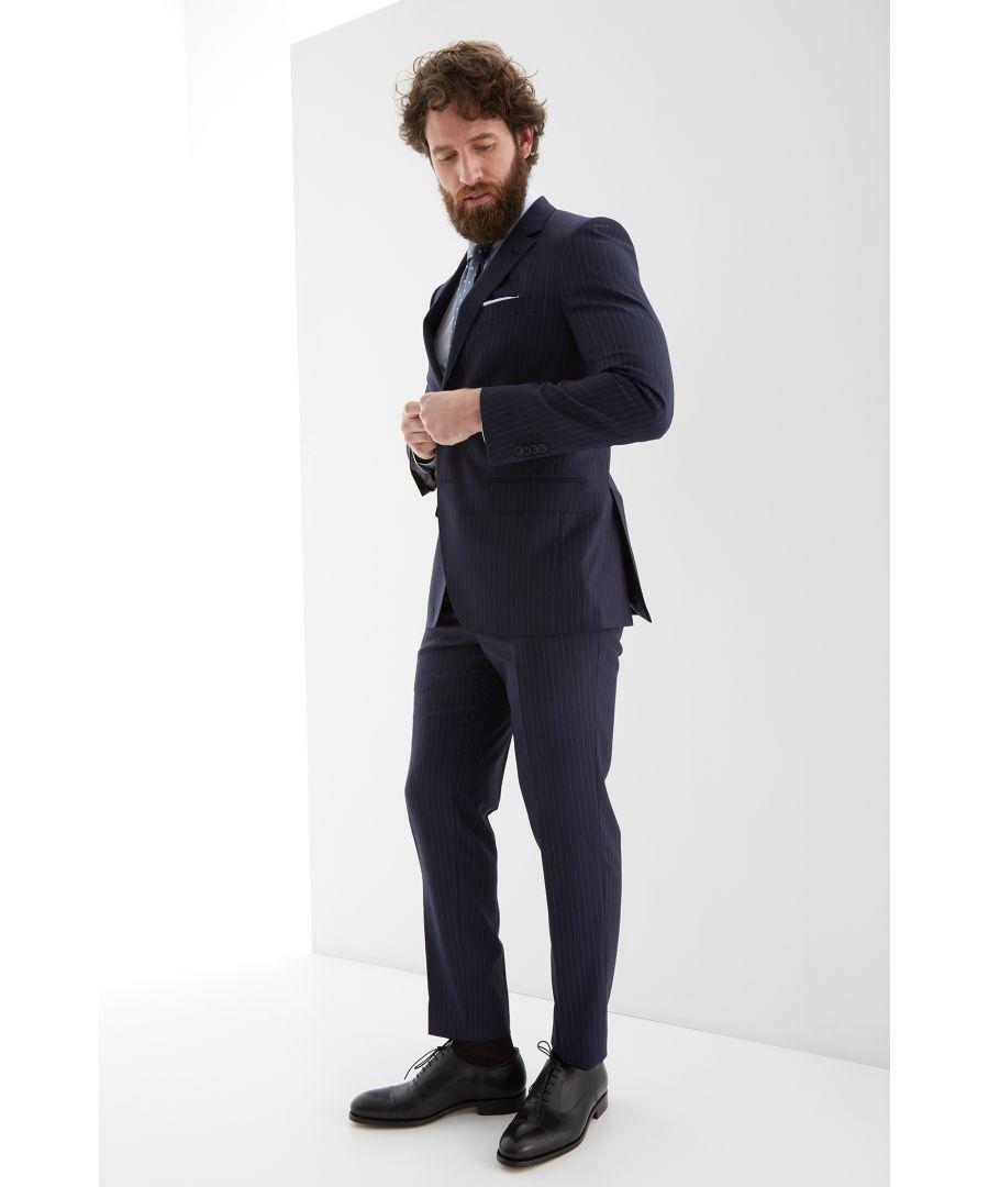 Image for Men s Striped Slim Fit Suit