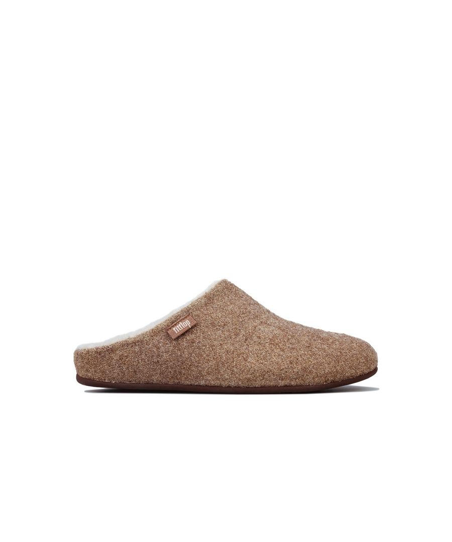 Image for Women's Fit Flop Chrissie Glimmerwool Slippers in Gold
