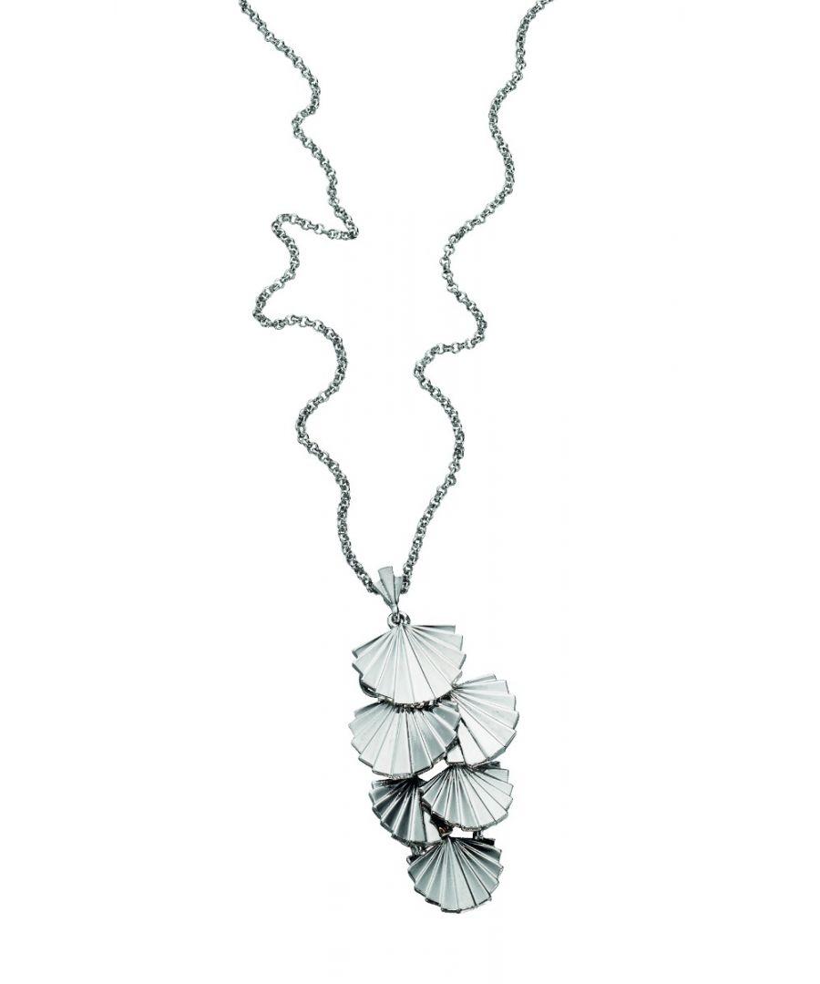Image for Fiorelli Fashion Imitation Rhodium Plated Art Deco Shell Cluster Necklace 54cm + 5cm