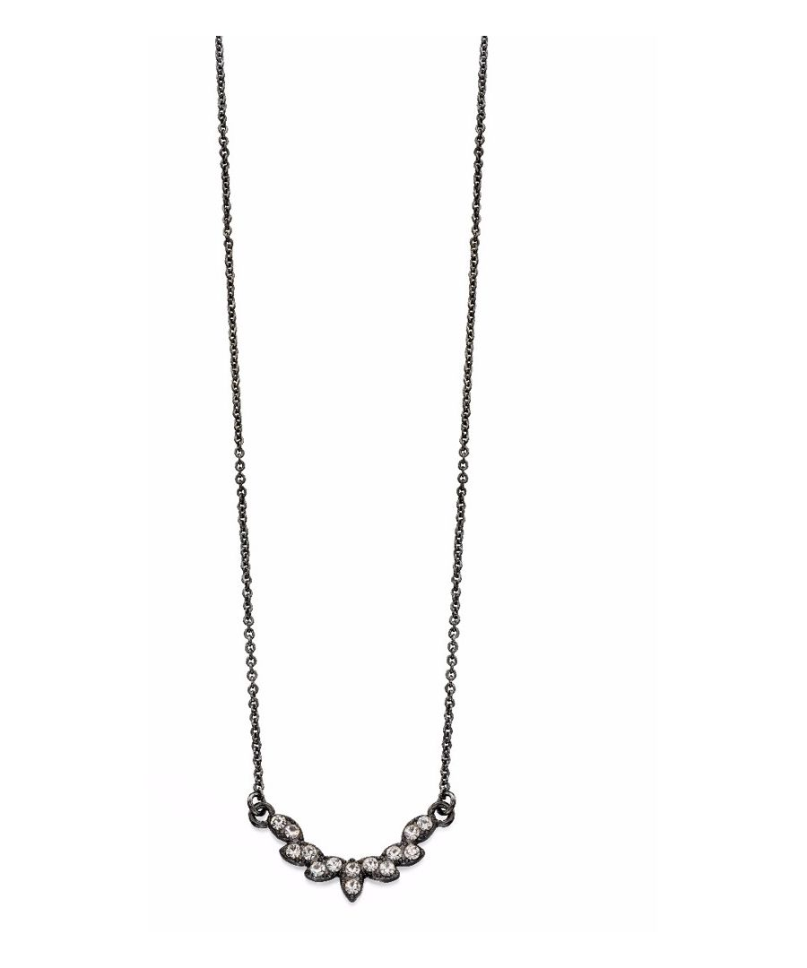 Image for Fiorelli Fashion Gunmetal Plated Clear Crystal Pretty Necklace 42cm + 5cm
