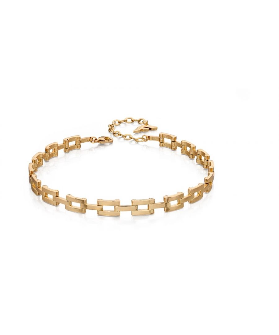 Image for Fiorelli Fashion Gold Plated Link Chain Choker Necklace 28cm + 6cm
