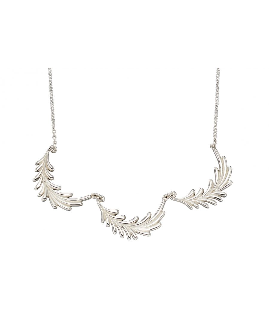 Image for Elements Silver Womens 925 Sterling Silver Three Leaf Necklace of Length 46cm N4172
