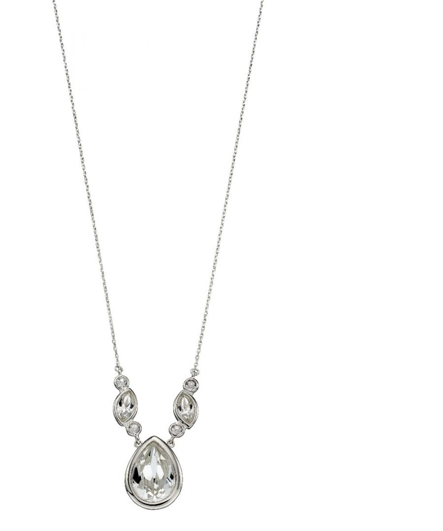 Image for Elements Silver Womens Sterling Silver Crystal by Swarovski® Fancy Necklace of Length 41cm N4292C