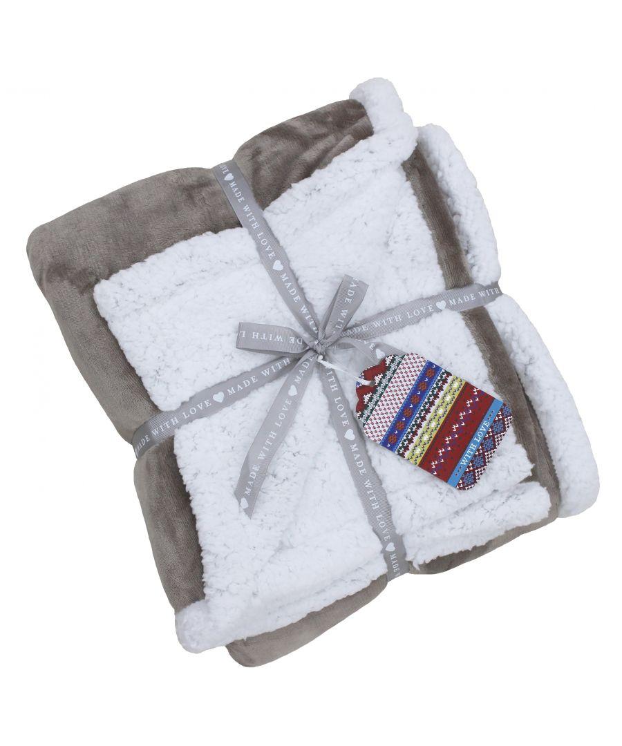 Image for Lux Sherpa Fleece 127X152 Mocha