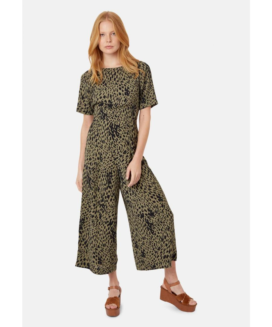 Image for Bianca Shortsleeve Polka Dot Jumpsuit in Green