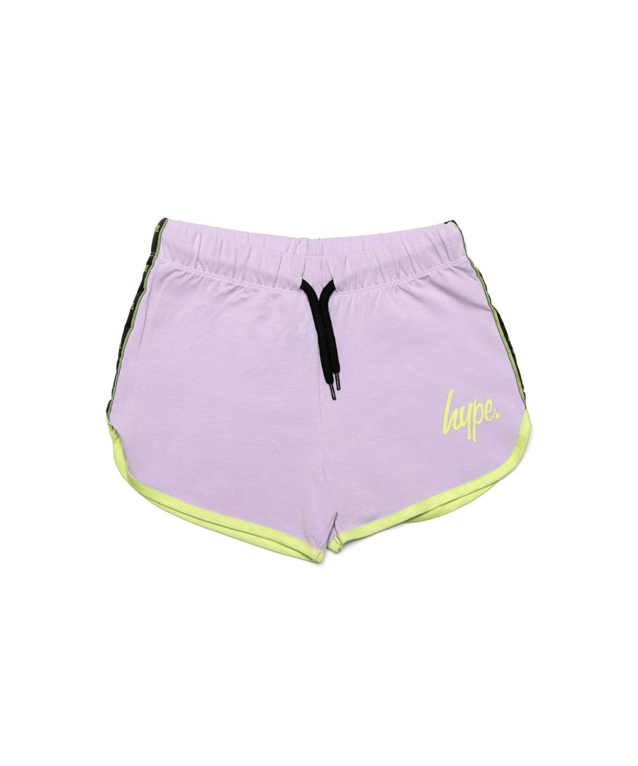 Image for Girl's Hype Junior Lilac Runner Shorts in Lilac