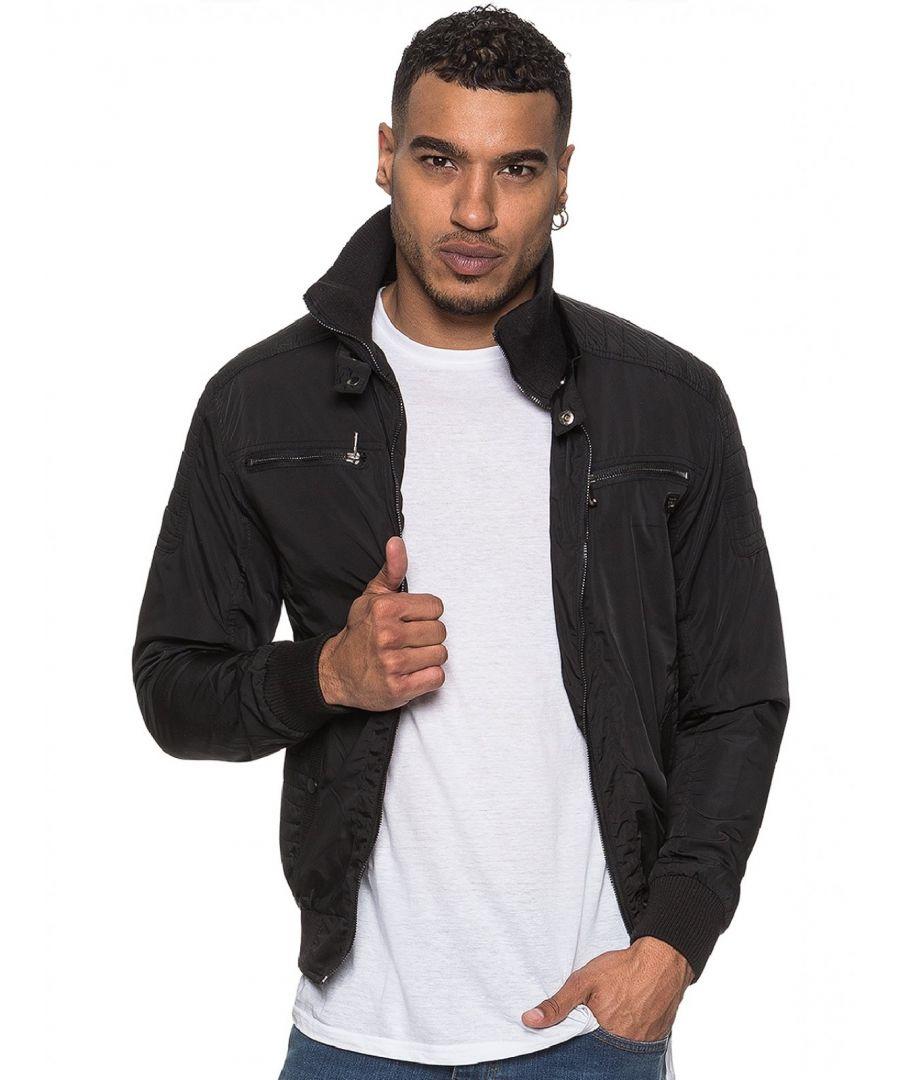 Image for ETO | Men's Designer Black Biker Style Jacket