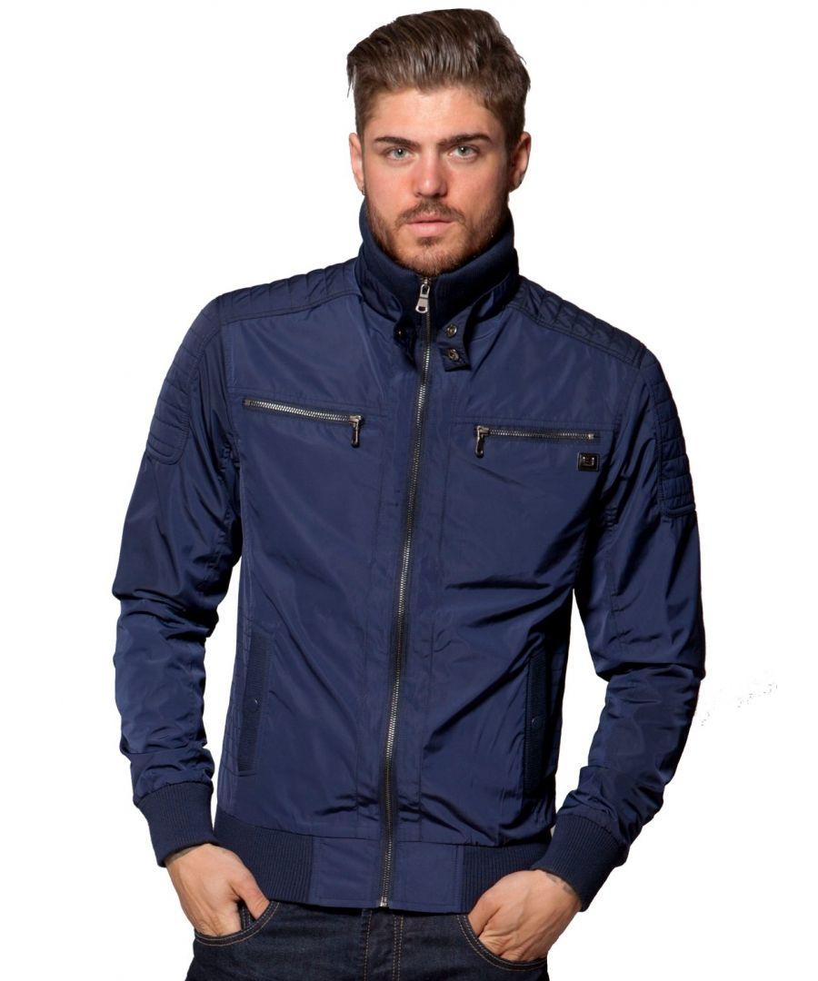 Image for ETO | Men's Designer Navy Biker Style Jacket