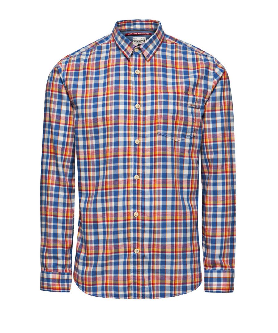 Image for Jack and Jones One Dek Warren Blue Casual Shirt