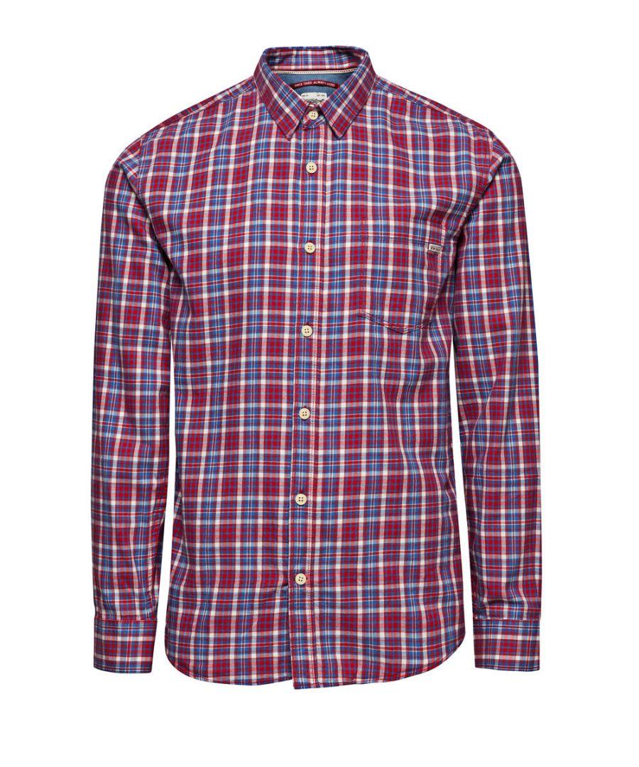 Image for Jack and Jones One Dek Warren Red Casual Shirt