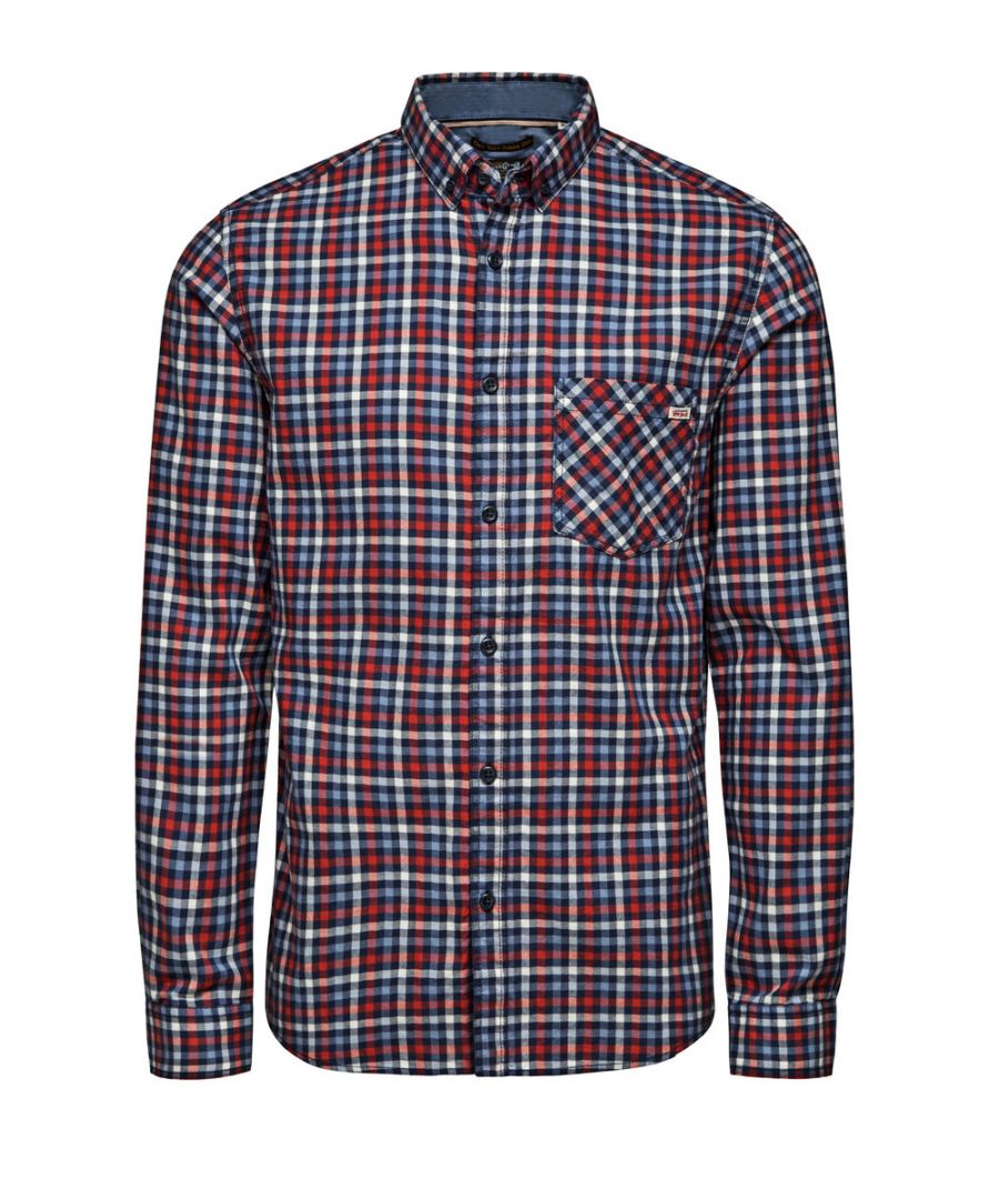 Image for Jack and Jones One Get Leeds Red Casual Shirt