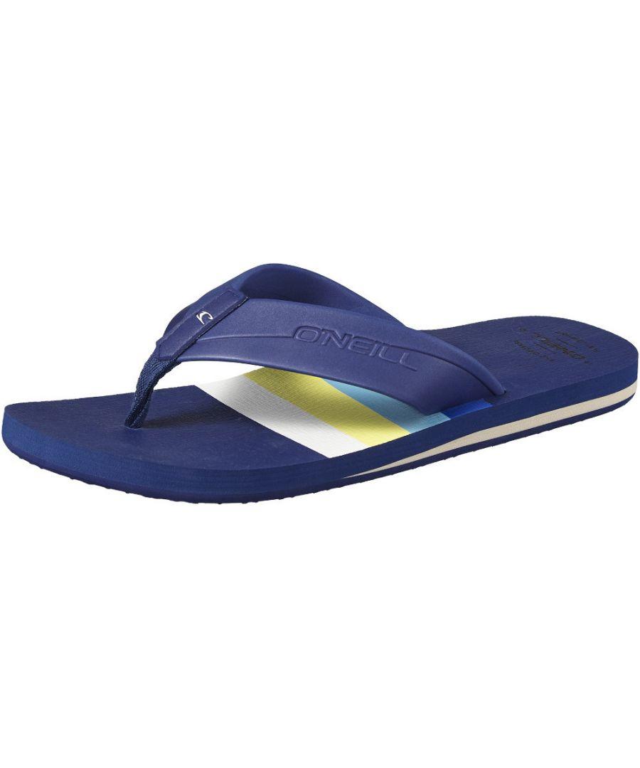 Image for O'Neill Mens FM Imprint Graphic Pattern Toe Post Flip Flops Sandals