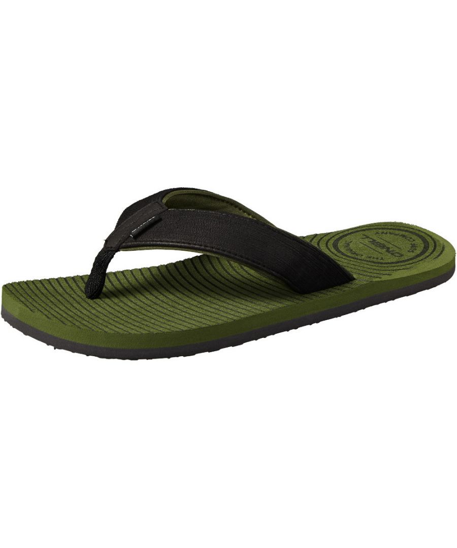 Image for O'Neill Mens FM Koosh Soft Brushed Toe Post Slide Flip Flops Sandals