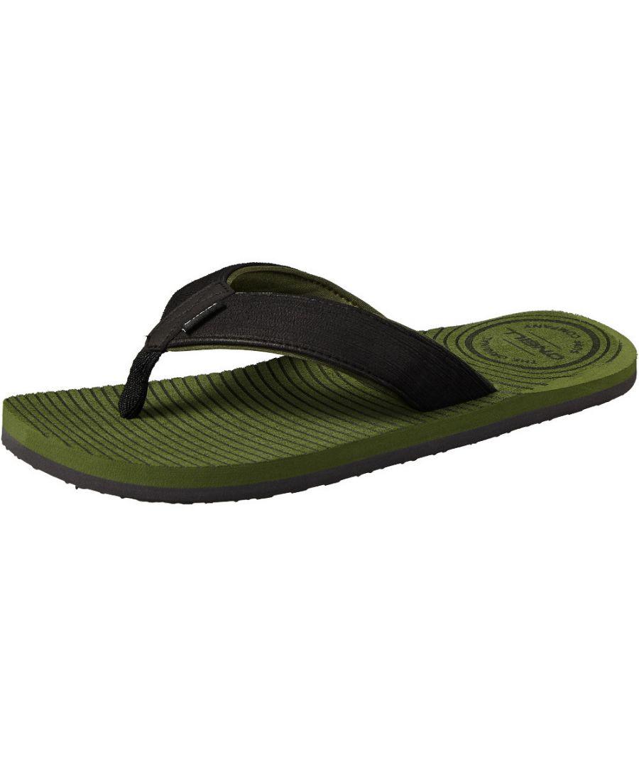 Image for O'Neill Mens FM Koosh Soft Brushed Toe Post Slide Flip Flops Sandals