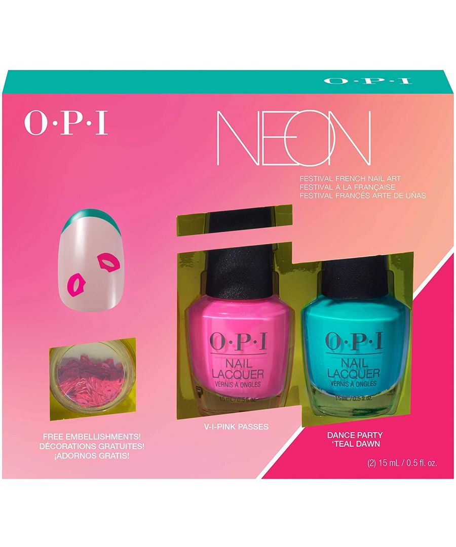 Image for OPI NEON Collection Nail Art Duo DANCE PARTY 4pc Set