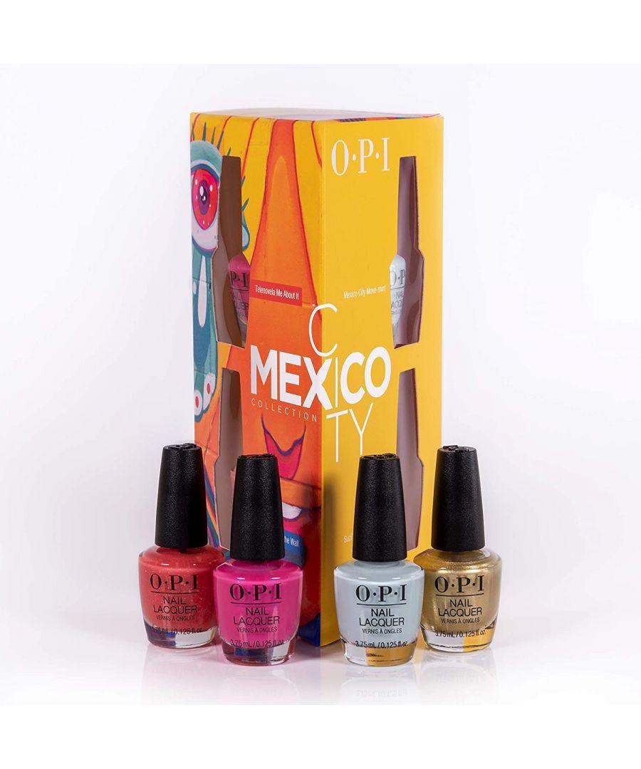 Image for OPI Mexico City Collection Nail Polish Set - 4 Piece Set