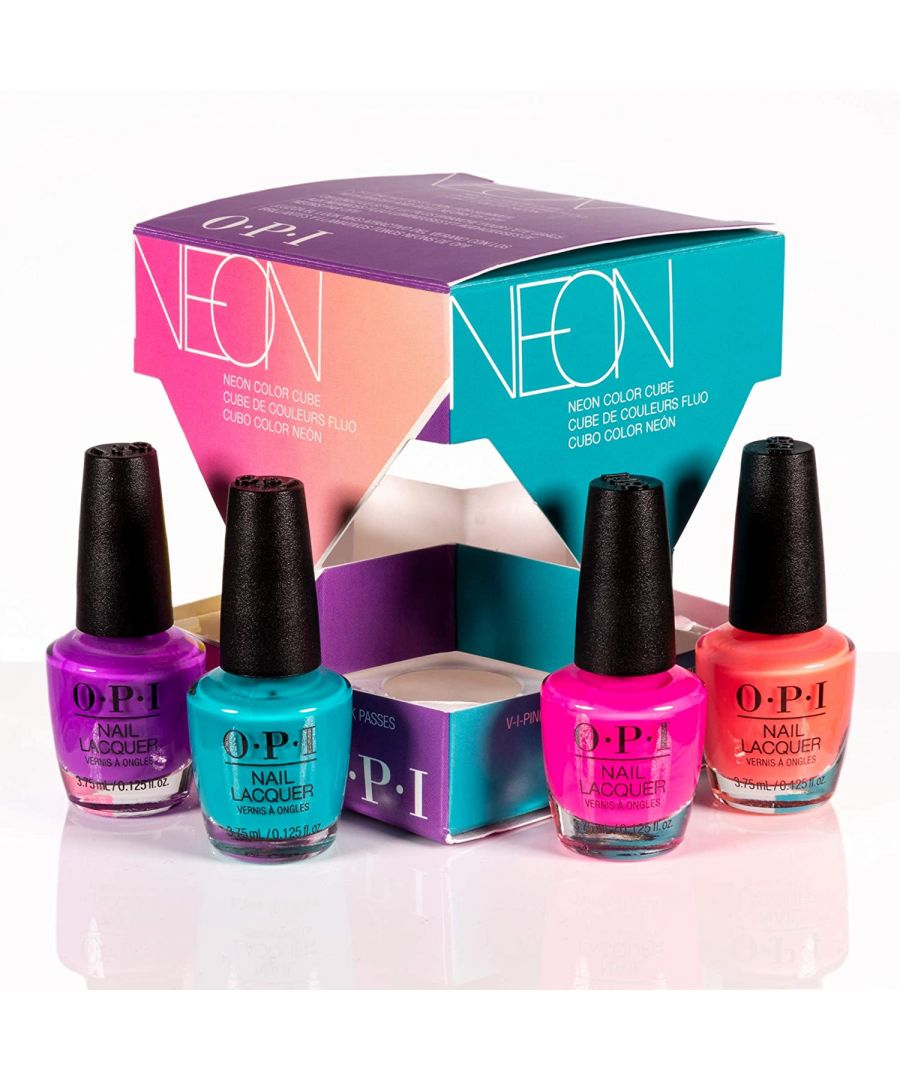 Image for OPI Neon Cube Nail Polish Mini Pack - 4 Piece Set