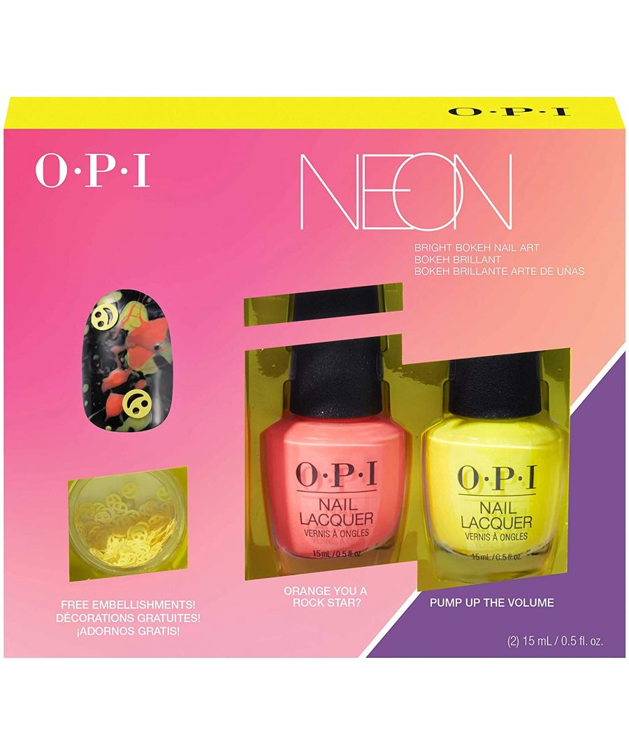 Image for OPI NEON Collection Nail Art Duo PUMP UP THE VOLUME 4pc Set