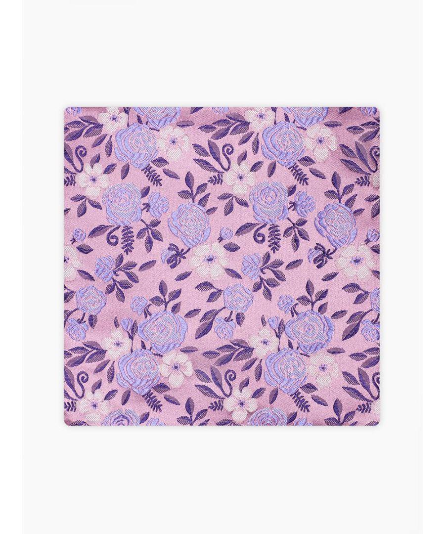 Image for Roda Floral Pocket Square Pink