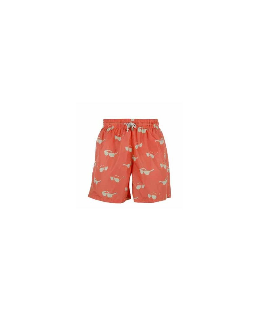 Image for Men's Orange Sunglasses Swim Shorts