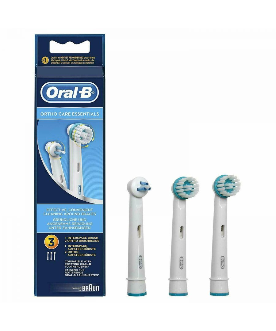 Image for Oral-B Ortho Care Essentials Replacement Toothbrush Heads for Braces, Count 3
