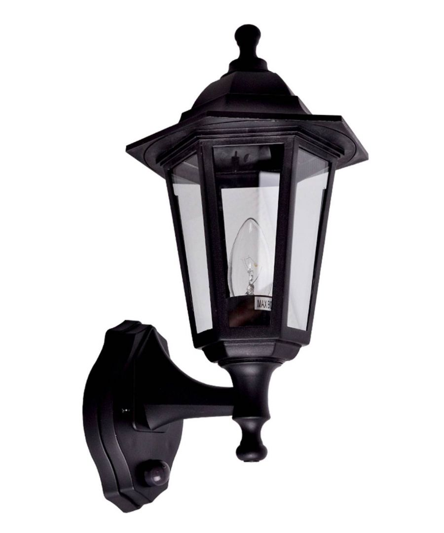 Image for Outdoor Dawn to Dusk Wall Light Black
