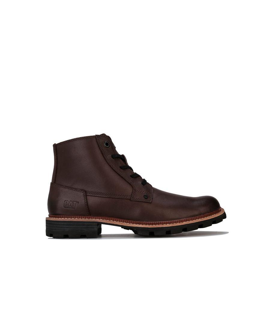 Image for Men's Caterpillar Wayward Waterproof Boots in Dark Brown