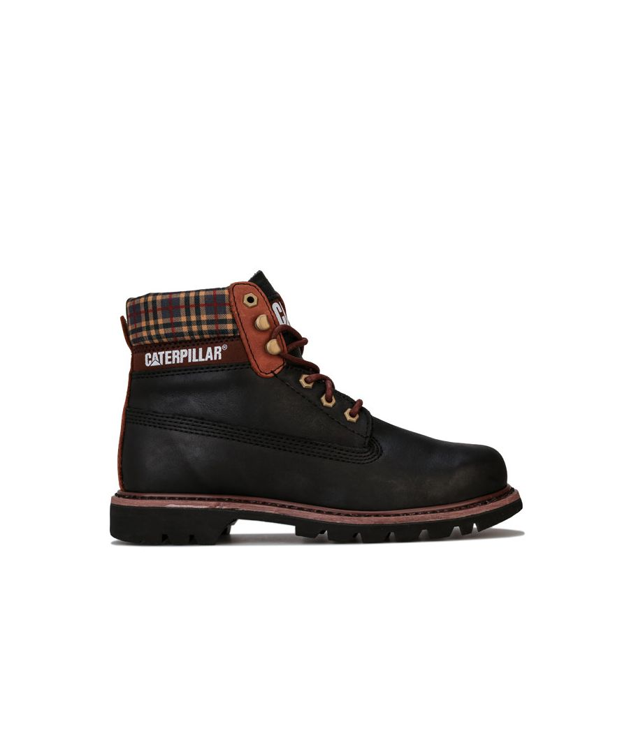 Image for Men's Caterpillar Colorado Plaid Boots in Black