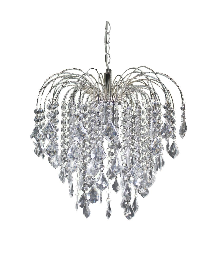 Image for Fountain Pendant Ceiling Light Polished Chrome