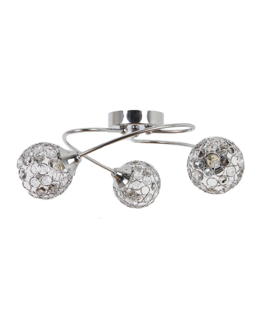 Image for Bryn 3 Light Ceiling Light Polished Chrome
