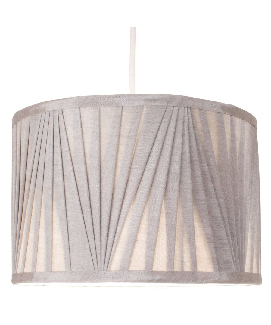 Image for Silver 30cm Faux Silk Pendant Light Shade