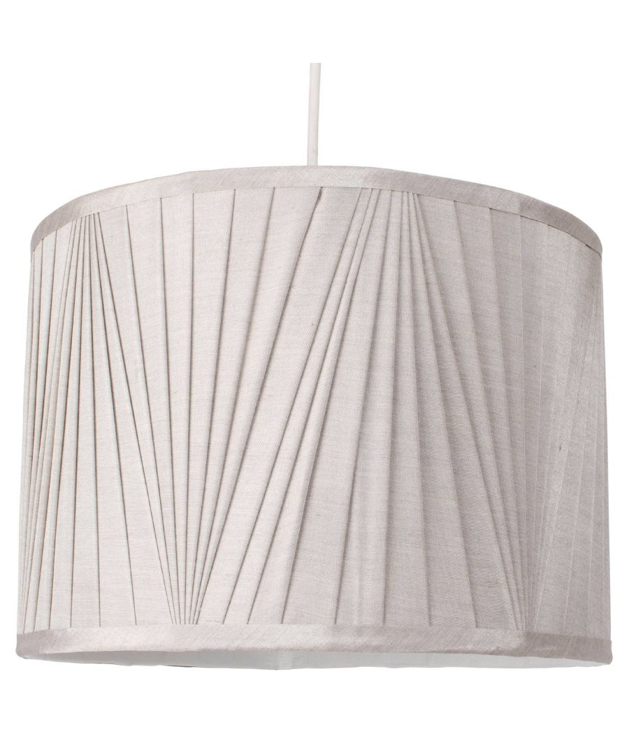 Image for Silver 35cm Faux Silk Pendant Light Shade