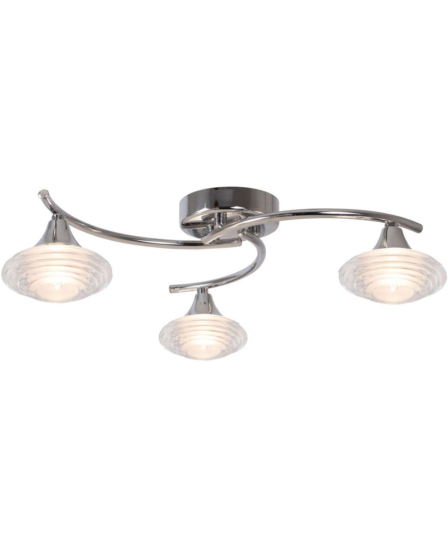 Image for Conner 3 Light Semi Flush Ceiling Light