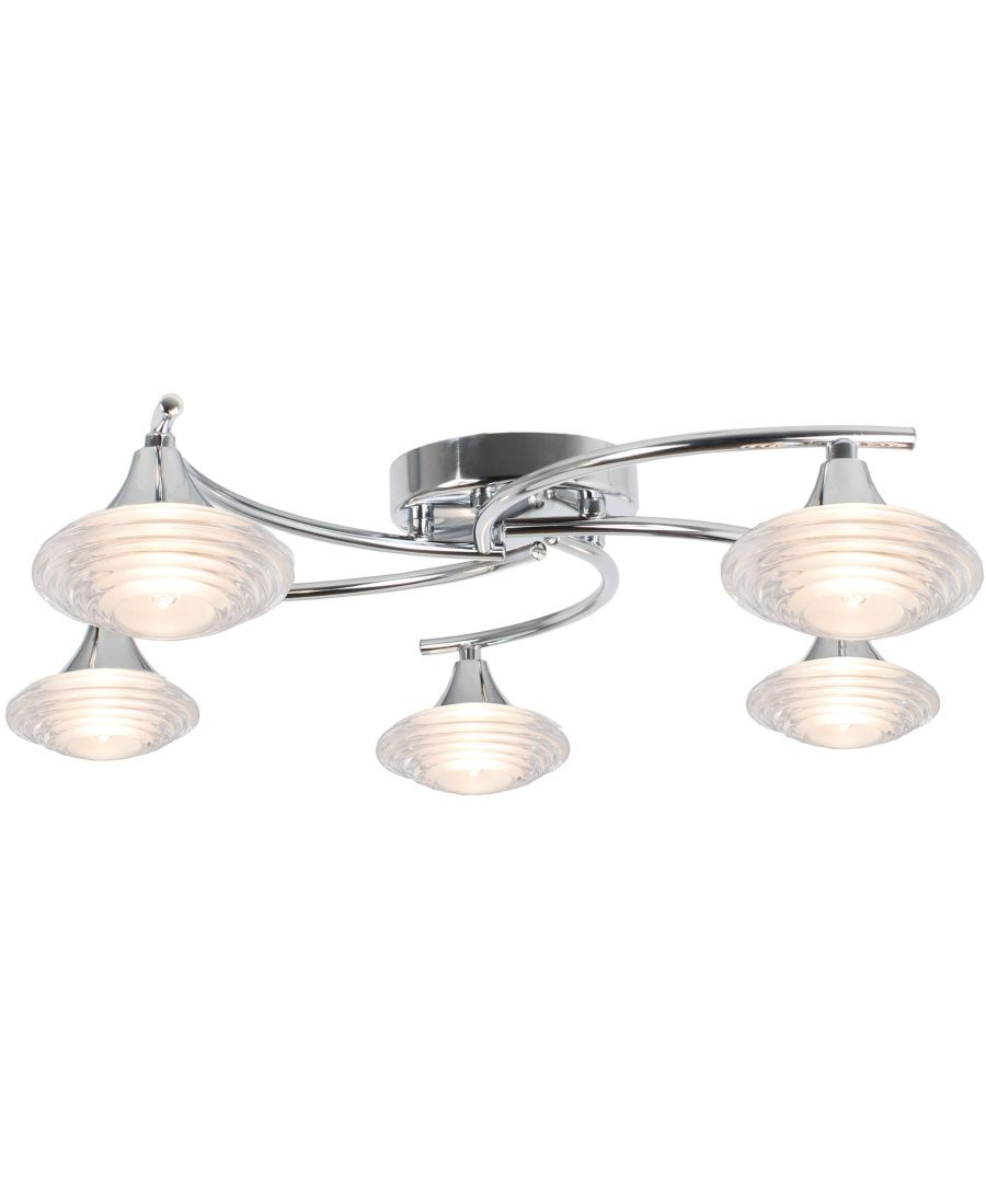 Image for Conner 5 Light Semi Flush Ceiling Light
