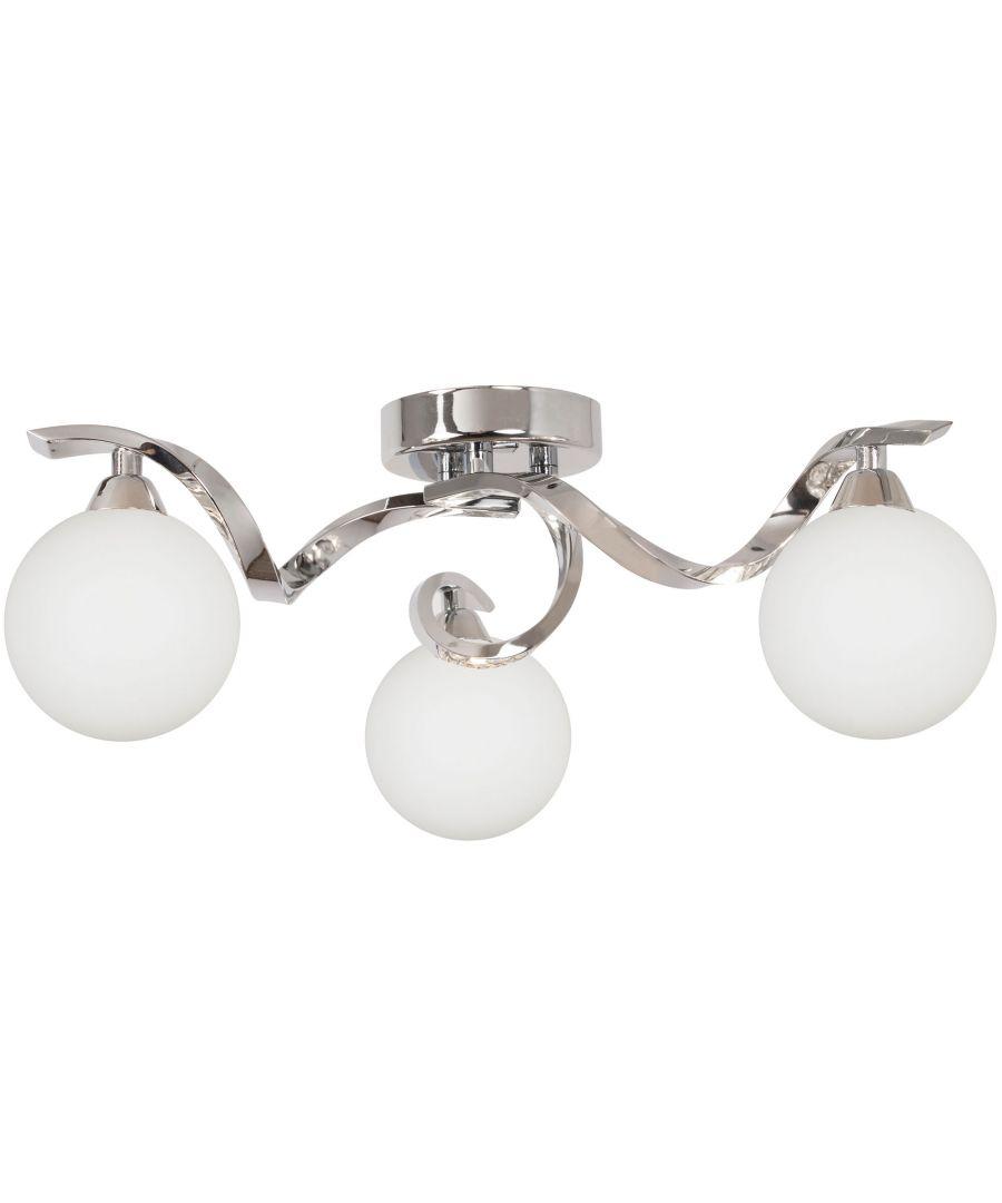 Image for Bombo 3 Light Semi Flush Ceiling Light