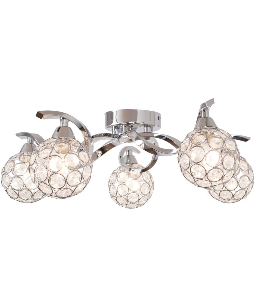 Image for Zana 5 Light Semi Flush Ceiling Light