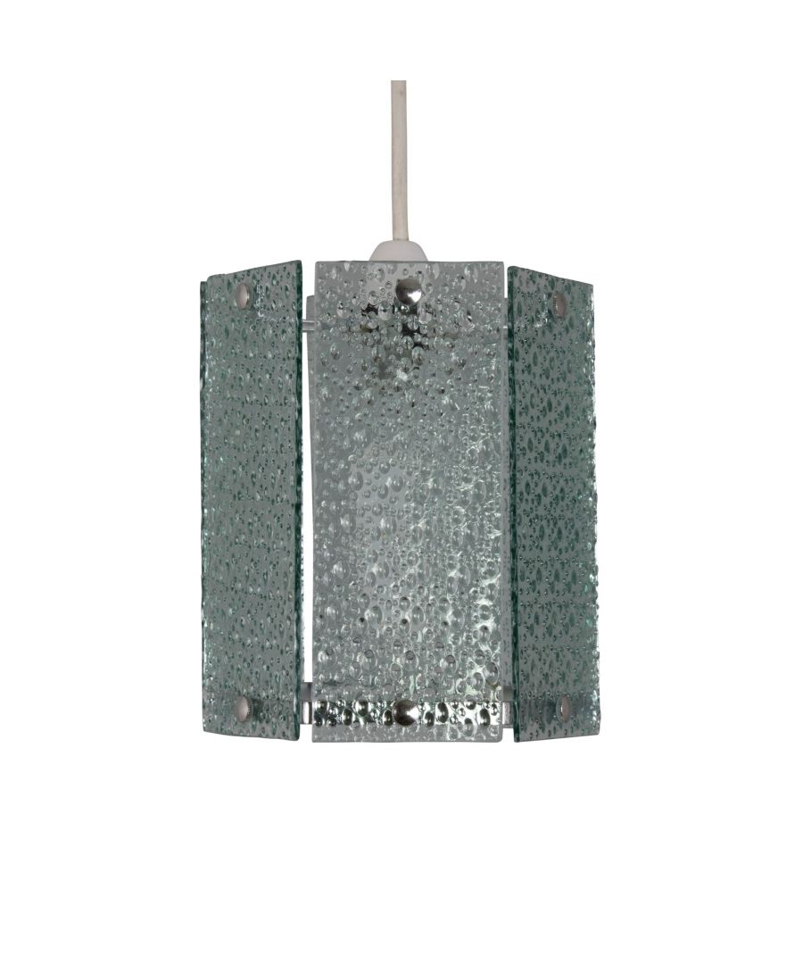 Image for Ayala Hexagon Glass Pendant Ceiling Shade