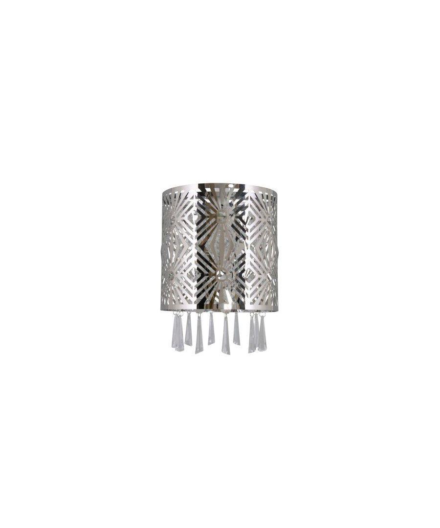 Image for Jadene Cut Polished Chrome Pendant Ceiling Shade