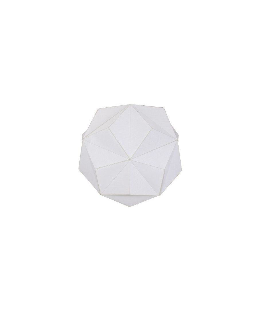 Image for Duggan Ivory Geometric Pendant Ceiling Light Shade